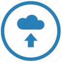 cloud, data, server, transfer, upload icon