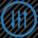 complex, configurate, options, vertical icon