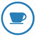 breakfast, coffee, cup, dishes, round, tea icon