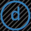 d, keyboard, letter, lowcase, virtual icon