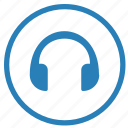 device, headphones, listen, music, sound icon