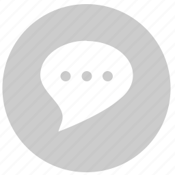 comment, dialog, dots, message, round icon