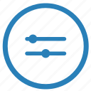 configurate, double, horizontal, options icon