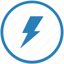 electric, error, news, notice, round, shock icon
