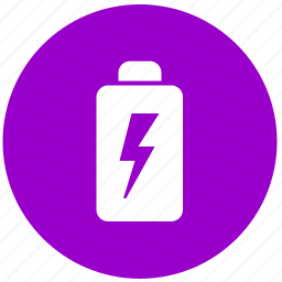 battery, charge, charging, electricity, energy, round icon