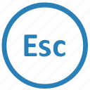 esc, escape, function, keyboard icon