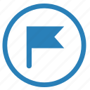 flag, gps, point, position, target icon