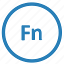 fn, function, keyboard, round icon