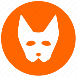carnaval, face, fox, mask, round icon