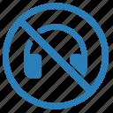 cancel, device, headphones, mute, volume icon