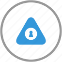 anti, attention, door, hole, key, signal, theft icon