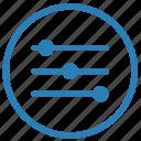 configuration, customize, levels, settings icon