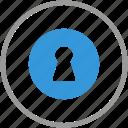 anti, door, hole, key, lock, security, theft icon