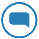 comment, dialog, function, im, message, text icon