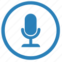 device, mic, microphone, record icon