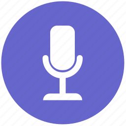 device, mic, microphone, record, round icon