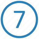 enter, keyboard, number, seven icon