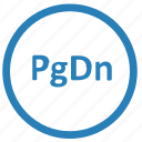 down, function, keyboard, page, pgdn icon