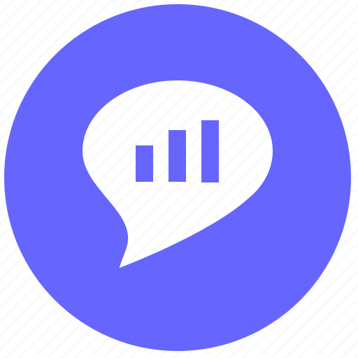 chart, comment, dialog, message, report icon