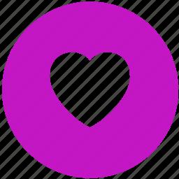 heart, love, romantic, round icon