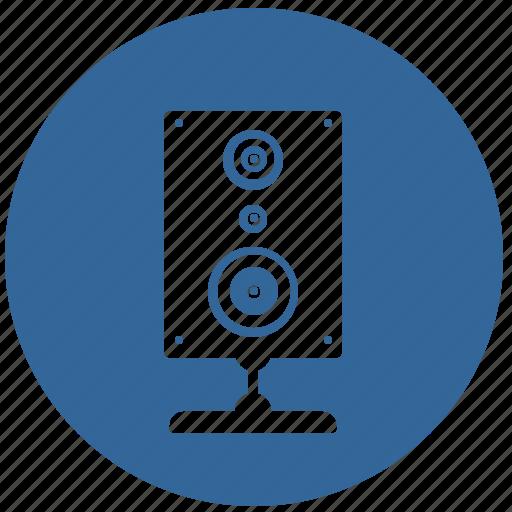 device, hifi, listen, music, round icon