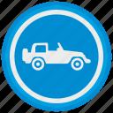 cabrio, cabriolet, car, jeep, safari, tour icon