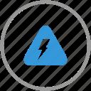anti, error, shock, signal, theft, warning icon
