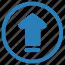keyboard, navigation, slide, up icon