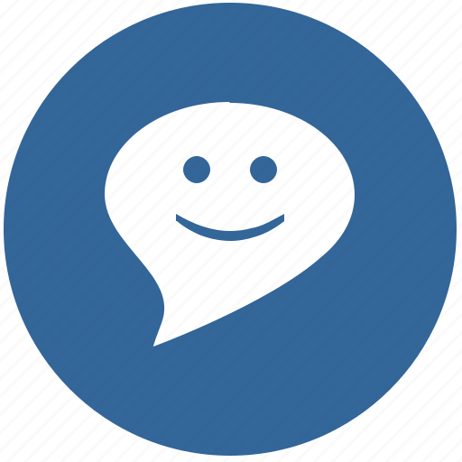 comment, dialog, face, message, smiley icon
