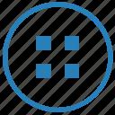 choice, element, menu, round, square, tile, ui icon