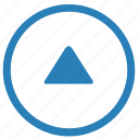 arrow, navigation, top, triangle, up icon