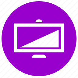 monitor, plazma, round, screen, tv icon