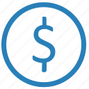 dollar, exchange, money, usd, value icon