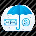 funds, insurance, mutual, premium, protection, security, umbrella icon
