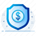 antivirus, money, security, shield icon