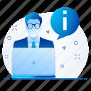account, information, person, profile, user icon