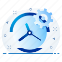 configuration, management, setting, settings, time, watch icon