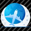 airplane, flight, tour, transport, travel