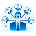 connection, link, links, manager icon