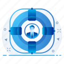 account, person, profile, target, user icon