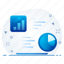 graph, chart, document, paper, analytics, report icon
