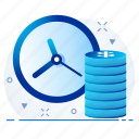 coin, currency, finance, money, payment, time icon