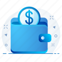 bank, currency, finance, money, payment, wallet icon