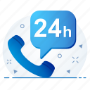 business, call, four, hours, info, time, twenty icon