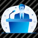 leader, speaker, spokesperson icon