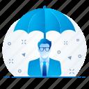 premium, protection, umbrella, insurance, security icon