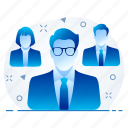 business, group, management, team icon