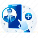 chat, doctor, healthcare, medical, online, support, video icon
