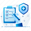 medical, health, healthcare, hospital, report icon
