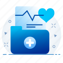health, healthcare, hospital, medical, report icon